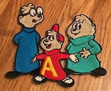Vintage Alvin And The Chipmunks Embroidered Patch Iron On Simon Theodore