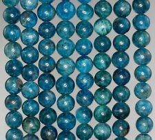 8MM APATITE GEMSTONE GRADE A  ROUND 8MM LOOSE BEADS 7.5""