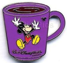 Disney Pin: WDW Cast Lanyard Collection 4 Coffee Mugs - Mickey Mouse