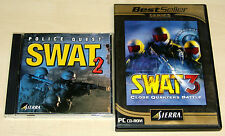 2 PC SPIELE SET - SWAT 2 POLICE QUEST & SWAT 3 CLOSE QUARTERS BATTLE