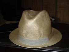 BAILEY OF HOLLYWOOD STRAW FEDORA-Natural-Large-NWOT