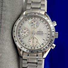 Mens Omega Speedmaster Automatic Chronograph Watch Silver Dial Day Date 3523.30