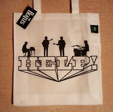 THE BEATLES HELP ! WHITE ECO SHOPPING BAG OFFICIAL MERCHANDISE