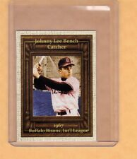 Johnny Bench 1967 Buffalo Bisons minor league card by Superior only 500 exist