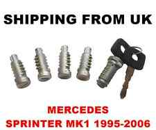 IGNITION SWITCH + 4 DOOR LOCK BARREL SET FRONT LEFT RIGHT REAR MERCEDES SPRINTER