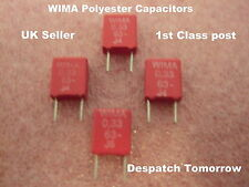 Wima Polyester Capacitors    0.33 uF      63V ******LOT OF 4********