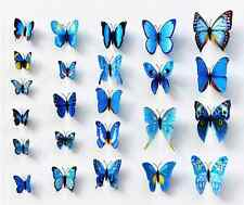 12x 3D Butterfly Wall Stickers Art Decal for Home Room Kitchen Decorations Decor