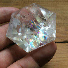 Diamond Shape Faceted Rainbow Quartz from Brazil 4.8cm