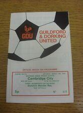 15/03/1975 Guildford And Dorking United v Dulwich Hamlet Reserves [Surrey Interm