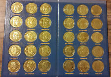 Complete 30 Piece Set of Pinacle Mint Collection Football Quarterback Coins