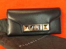 NWT PROENZA SCHOULER BLACK TEXTURE LEATHER PS11 CONTINENTAL CLUTCH WALLET $685