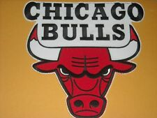 "AWESOME NBA CHICAGO BULLS IRON ON JACKET PATCH 8 3/4"" X 8 3/4"""