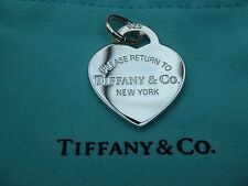 "med. ""Please Return to Tiffany"" heart Tag charm /pendant brand new with pouch"