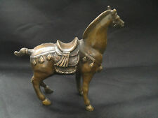 Collectible China Decorate Old Handwork Copper Carved Horse Big Statue