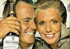 PUBLICITE ADVERTISING 116  1977   Champagne Piper-Heidieck  (2pages)
