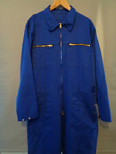 Vtg French blue cotton coveralls jump boiler suit work racing pants overalls