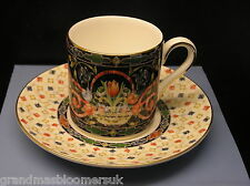 WEDGWOOD BONE CHINA HARLEQUIN JEWEL COFFEE CAN CUP & SAUCER BOXED MADE ENGLAND
