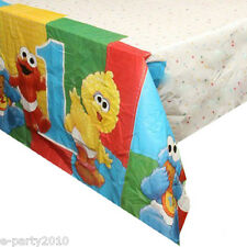 SESAME STREET 1st BIRTHDAY PLASTIC TABLE COVER ~ Party Supplies Decorations Elmo