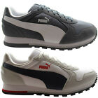 Puma ST Runner Mens Trainers Suede Low Lace Casual White Grey (356224)