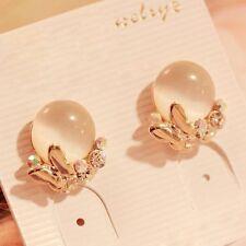 NiX 1316 Butterfly Opel Retro Diamond Crystal Stud Earrings Danglers Gift Women