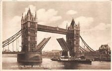 BF34604 the tower bridge with bascules raised   london  uk front/back scan