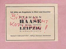 LEIPZIG, Werbung 1940, Hermann Haase Gemüse Obst Südfrüchte Großmarkthalle