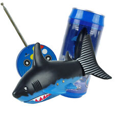Coke Can Radio Remote Control Shark RC Mini Fish Kids Electric Water Game Toy