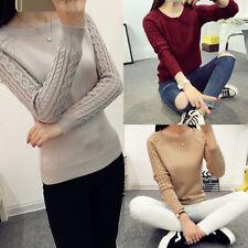 Women Fashion Sweater Cardigan Long Sleeve Knitwear Jumper Pullover Tops Outwear