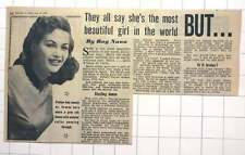 1953 Yvonne De Carlo The Most Beautiful Girl In The World