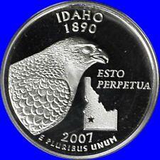 2007 S Clad Idaho State Quarter Deep Cameo Gem Proof No Reserve