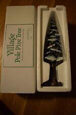 """Department 56 Village Pole Pine Tree #55298 Large 10.5"""" Porcelain Accessory"""