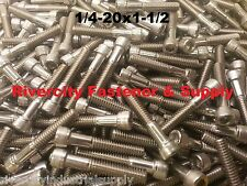(25) 1/4-20x1-1/2 Socket Allen Head Cap Screw Stainless Steel 1/4 x 1.5
