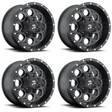 15x10 Fuel Revolver D525 5x5.5/5x139.7 -43 Black Milled Wheel New set(4)