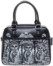 Sourpuss Memento Mori Bowler Handbag NEW Pin Up Pink Rockabilly Skull Dolls Purs