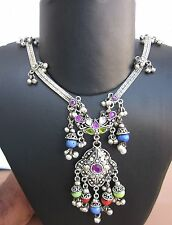 Chain Necklace Pendant Tribal Fusion Belly dance Gypsy Bohemian Festival Jewelry