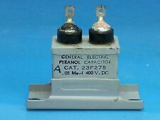 GE POI CAPACITOR .05 UF 400V US NAVY MILITARY VOLT NOS PAPER IN OIL TUBE AMP 1PC