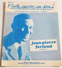 Partition vintage sheet music JEAN-PIERRE FERLAND / JACQUES LOUSSIER * 60's