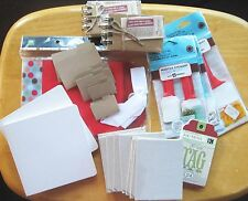 Lot of Scrapbooking Supplies, Board Bks/Coin Holder Albums/Slide Holders/Tags+