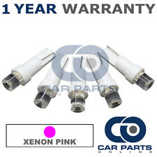 5X T5 286 74 17 18 PINK DASHBOARD CHECK ENGINE LIGHT SHIFTER CONCAVE LED BULBS