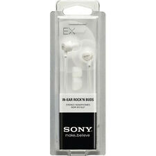 Sony MDR-EX10LP In-Ear Buds Stereo Earphones Headphones (White) BRAND NEW J22