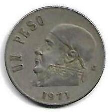 Estados Unidos Mexicanos Un Peso Coin 1971 !