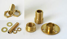 Mixed bag of brass threads 1/2 inch, 10mm, wood thread base plate for lampholder
