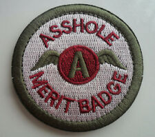 AS***LE MERIT BADGE MORALE TACTICAL MILITARY   PATCH    sk+ 528