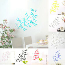 12pcs creative 3d diy Dragonfly wall sticker (gray)