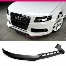 FIT FOR 09-12 AUDI A4 B8 FRONT BUMPER LIP SPOILER PU POLYURETHANE R-STYLE