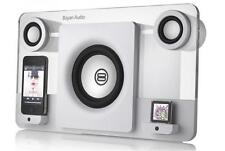 BAYAN AUDIO 5 SPEAKER DOCK FOR iPod IPhone WHITE 60W 2.1 CHANNEL REMOTE CONTROL