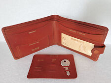 Vintage motorists leather wallet 1950s 1960s AA RAC drivers phone box key holder