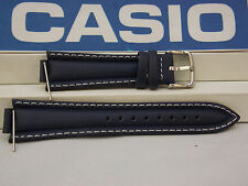 Casio Watch Band EF-506 L-7 Dark Blue 13mm x 22mm Leather Strap. Watchband