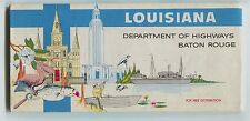 Vintage 1950's Louisiana Official Highway Road Map Nice and  Clean!