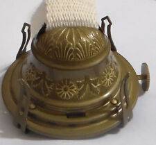 Embossed #2 Brass Queen Anne Oil Kerosene Lamp Burner NO.2  Antique Finish OB624